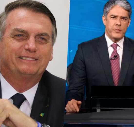 William Bonner e Jair Bolsonaro