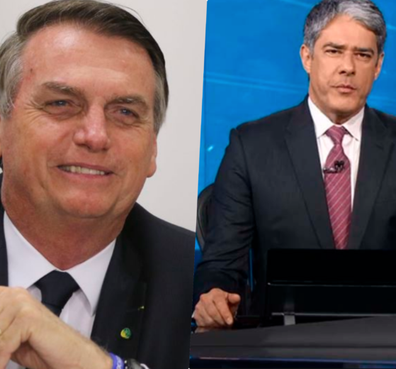 William Bonner e Jair Bolsonaro