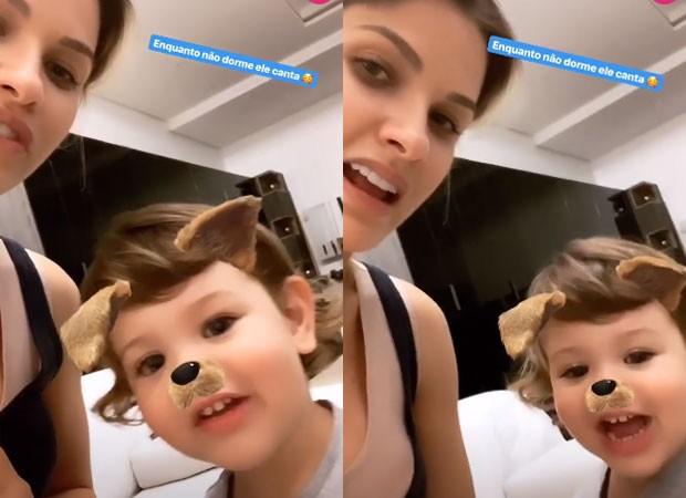 Andressa Suíta e o filho, Gabriel (Foto: Reprodução/Instagram)