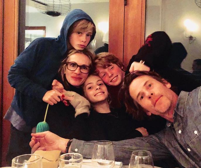 Júlia Roberts e família (Foto: Reprodução)