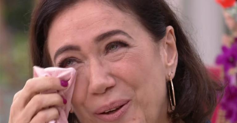 Lília Cabral foi às lágrimas no Mais Você (Foto: TV Globo)