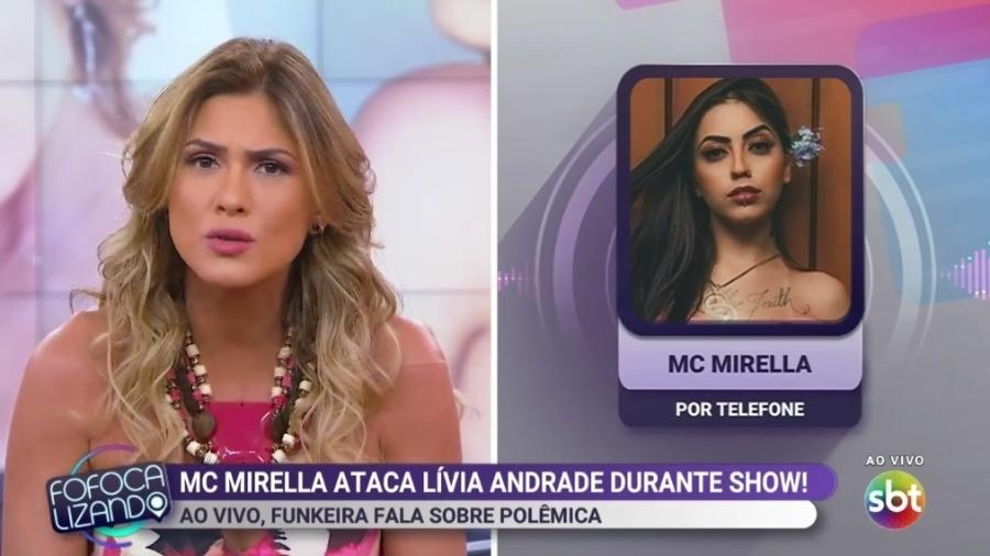 6d000cebc Lívia Andrade e MC Mirella discutem no Fofocalizando