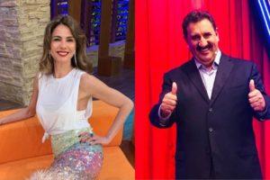 Luciana Gimenez da RedeTV e Ratinho do SBT (Foto: Divulgação/Montagem TV Foco)