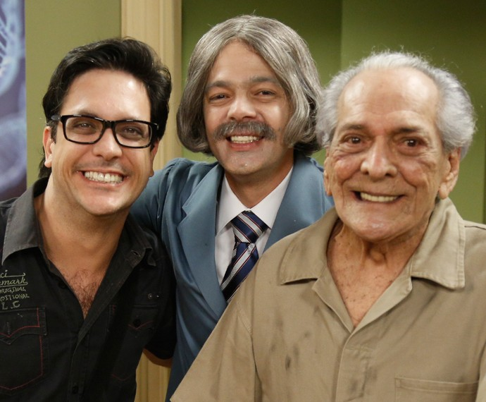 Lucio Mauro Filho, Bruno Mazzeo e Lucio Mauro (Foto: Raphael Dias / Gshow)
