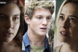 Rita (Alanis Guillen), Filipe (Pedro Novaes) e Lígia (Paloma Duarte) são personagens da trama central de Malhação Toda Forma de Amar