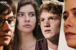 Raíssa (Dora de Assis), Filipe (Pedro Novaes), Lígia (Paloma Duarte) e Rita (Alanis Guillen) formam parte do elenco de Malhação Toda Forma de Amar