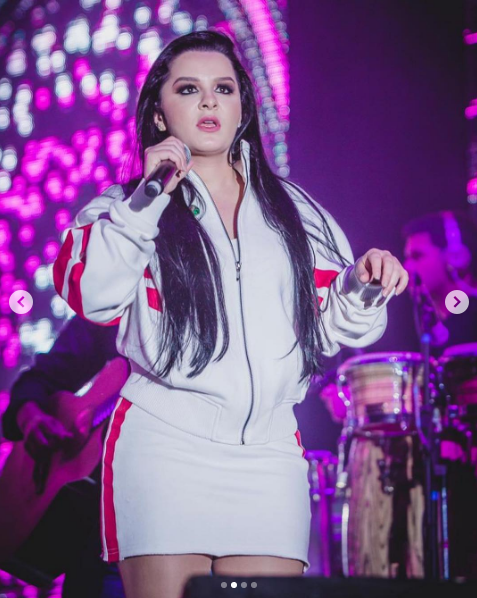 Maraisa no começo do show (Foto: Reprodução/ Instagram)