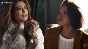 Maria da Paz (Juliana Paes) e Josiane (Agatha Moreira) em A Dona do Pedaço (Foto: Reprodução/Globo/Montagem/TV Foco)