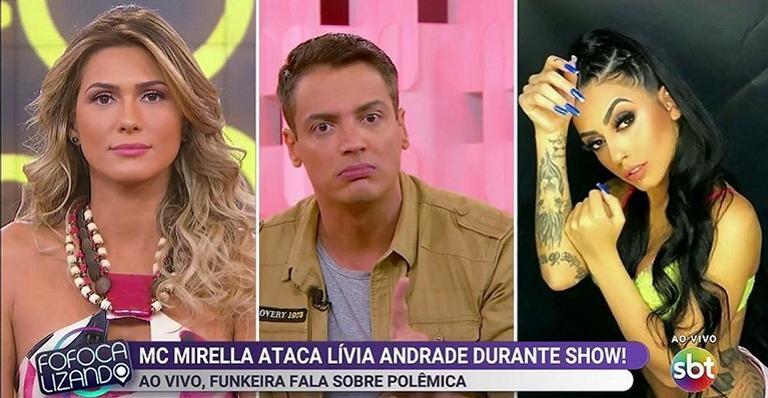 Lívia Andrade, Leo Dias e MC Mirella (Foto: Divulgação)