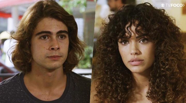 João (Rafael Vitti) e Moana (Giovana Cordeiro) em Verão 90 na Globo