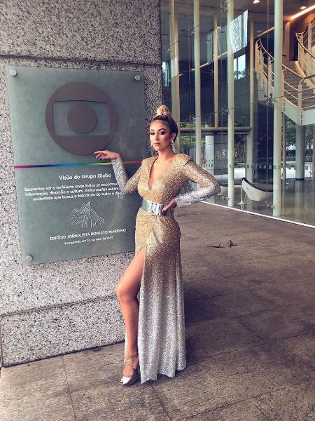 """Nova bailarina do Faustão, Liza Nunes diz ter terminado namoro e largado emprego para dançar no palco do """"Domingão"""" Foto: Reprodução"""