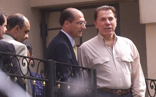 Silvio Santos e Geraldo Alckmin após sequestro (Foto: Reprodução)