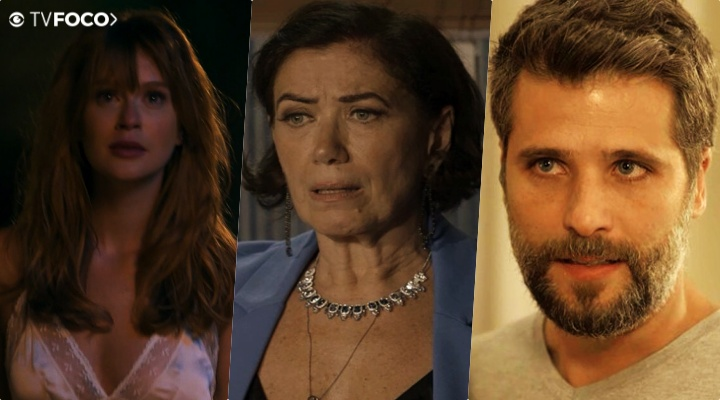 Lilia Cabral, Marina Ruy Barbosa, Bruno Gagliasso estão no ar na novela das nove da Globo O Sétimo Guardião