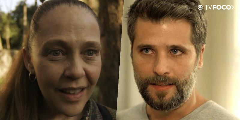 Judith (Isabela Garcia) e Gabriel (Bruno Gagliasso) brigarão feio em O Sétimo Guardião