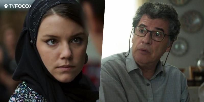 Na novela da Globo Órfãos da Terra, Dalila (Alice Wegmann) pisará sem dó em Miguel (Paulo Betti)