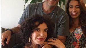 Lady Francisco com o filho, Oscar (Foto: Reprodução)