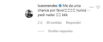 Ator pede chance à Paolla Oliveira (Reprodução: Instagram)