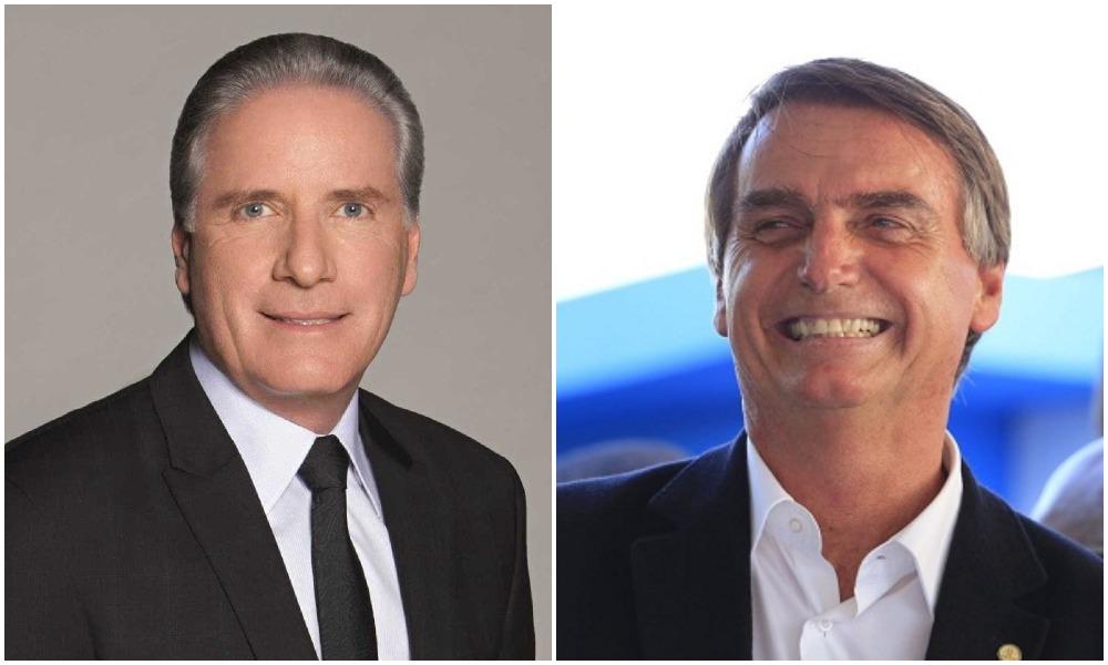Roberto Justus e o presidente Jair Bolsonaro (Foto: Montagem)