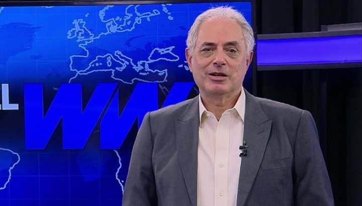 William Waack  da Globo deve assinar contrato com a CNN Brasil. (Foto: Reprodução)