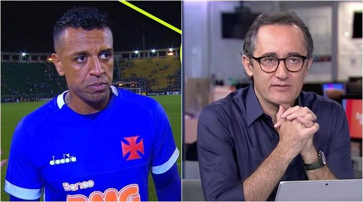 Apresentador Marcelo Barreto comentou caso envolvendo o goleiro Sidão. (Foto: Montagem/Reprodução)