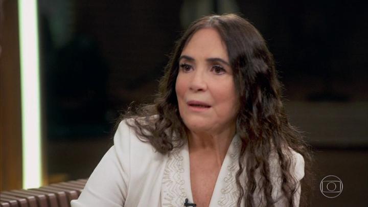 Regina Duarte no Conversa com Bial. (Foto: Reprodução/Globo)