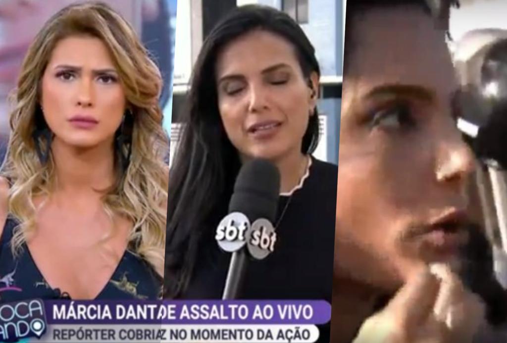 Repórter do SBT, Márcia Dantas foi assaltada ao vivo durante o Fofocalizando que estava no enterro de Gabriel Diniz
