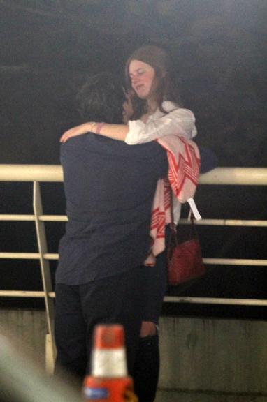 Romulo Neto foi flagrado aos beijos com modelo internacional (Foto: Daniel Delmiro/AgNews)