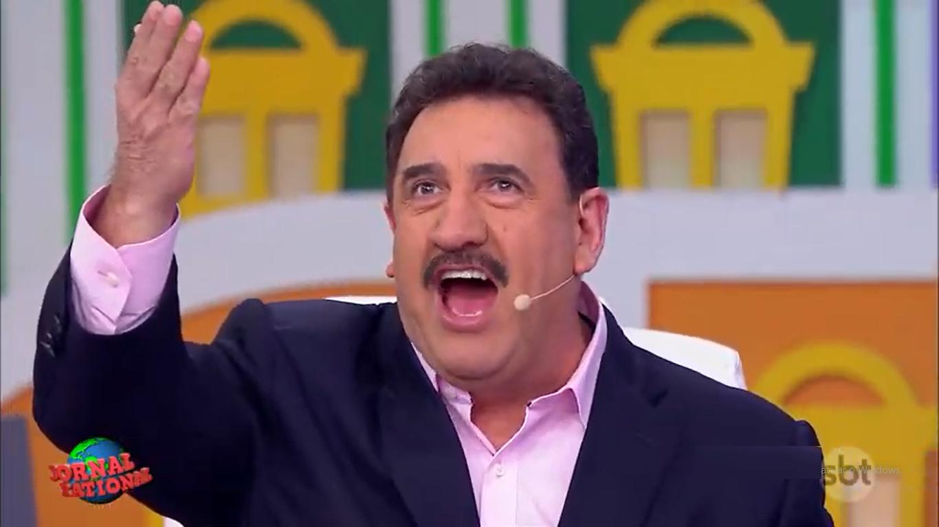 O apresentador Ratinho em seu programa no SBT (Foto: Reprodução/SBT) sensitiva