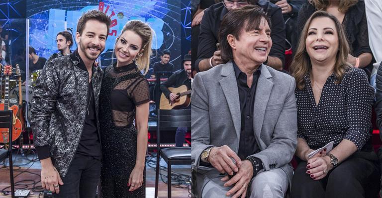 No Altas Horas, Sandy e Junior contaram com a participação dos pais (Foto: Reprodução/ Globo)
