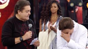 Faustão ficou surpreso com relato de Wellington Muniz, o Ceará, no Show dos Famosos da Globo (Foto reprodução)
