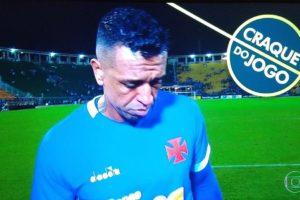 Sidão recebeu prêmio de Craque do Jogo da Globo (Foto: Reprodução)