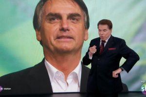Silvio Santos já telefonou para o então presidente eleito Jair Bolsonaro ao vivo no SBT (Foto: Reprodução)