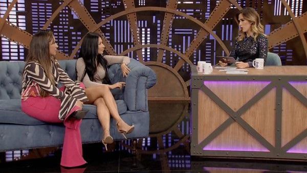 A dupla Simone e Simaria no Lady Night, da Globo com Tatá Werneck (imagem; Reprodução/ TV Globo)