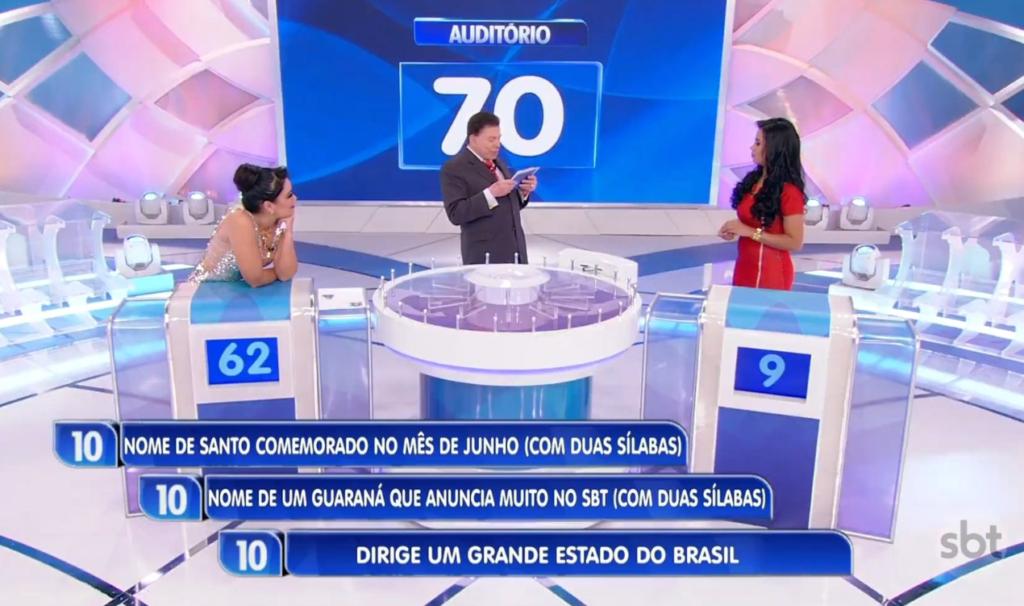 Programa Silvio Santosrecebeu mais uma vez cantora Stefhany Absoluta (Foto: Reprodução)