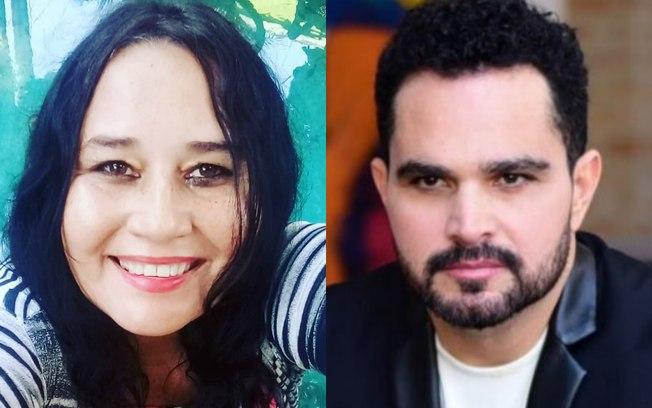Luciano Camargo, que faz dupla com Zezé, e sua ex-mulher Cleo Loyola (Foto: Reprodução)