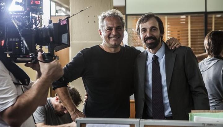 Julio Andrade ao lado do diretor Breno Silveira em 1 Contra Todos. (Foto: Divulgação)