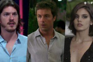 Na novela Verão 90 das sete da Globo, Candé (Kayky Brito) pegará Vanessa (Camila Queiroz) no flagra