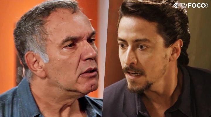 Herculano (Humberto Martins) e Jerônimo (Jesuíta Barbosa) bateram de frente na trama das sete Verão 90