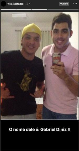Os cantores Wesley Safadão e Gabriel Diniz (Reprodução: Instagram)