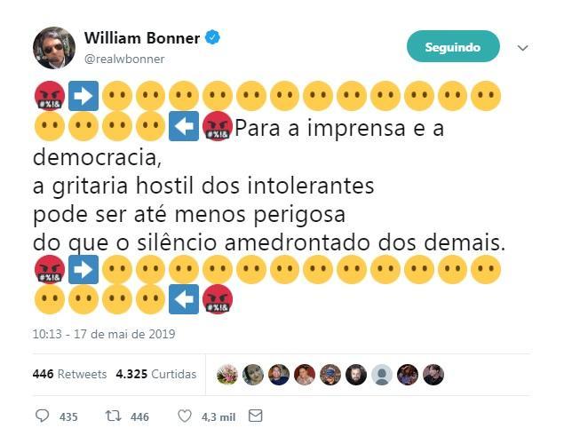 William Bonner no Twitter