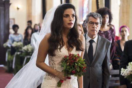 Almeidinha e Zuleika se casam em Órfãos da Terra (Foto: Ellen Soares/ Globo/ Divulgação)