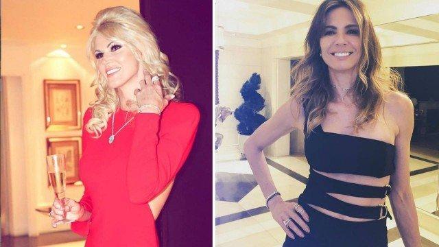 Val Marchiori e Luciana Gimenez tiveram briga feia (Foto: Reprodução)