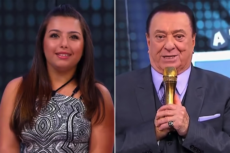 Raul Gil fez mais uma homenagem para a jovem Yasmin (Foto: Reprodução)
