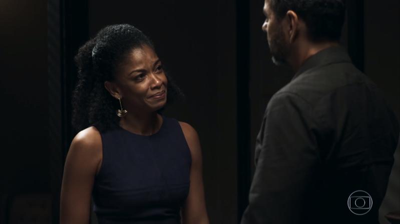 Gilda (Heloísa Jorge) confessará a Amadeu (Marcos Palmeira) que mentiu a mando de Josiane em A Dona do Pedaço (Foto: Reprodução/Globo)
