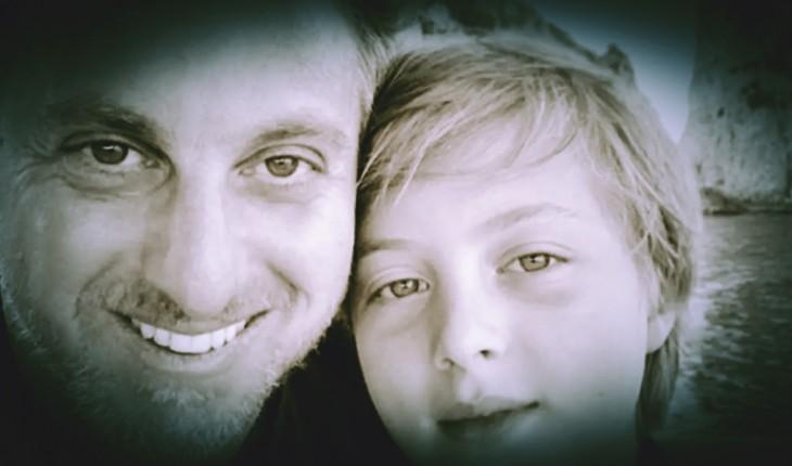 Luciano Huck e o filho Benício (Foto: Reprodução)
