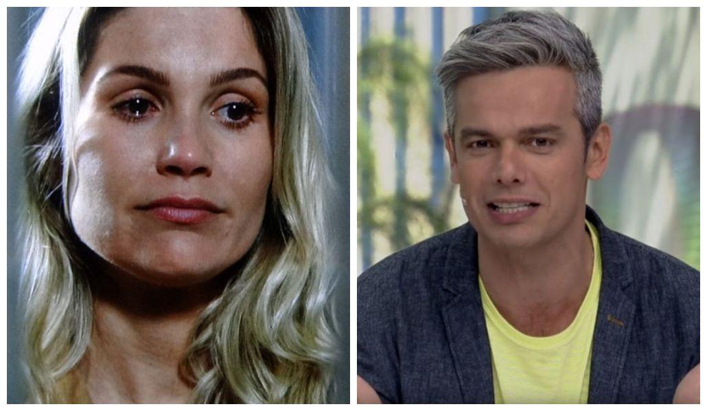 Otaviano Costa e Flávia Alessandra tiveram fim de casamento anunciado (Foto: Reprodução/ Globo)