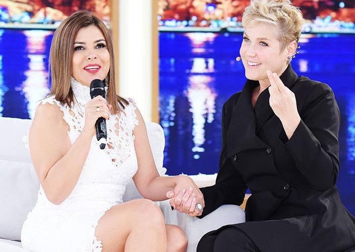 Xuxa recebeu Mara Maravilha em seu programa, na Record Foto: Reprodução