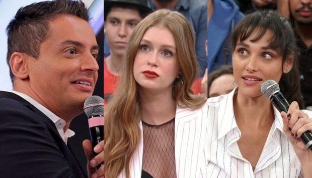 Leo Dias, Marina Ruy Barbosa e Débora Nascimento em mais uma polêmica no mundos dos famosos (Foto: Montagem(