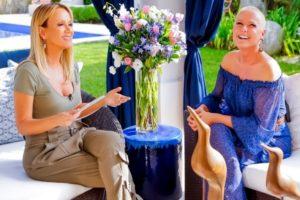 Eliana entrevista Xuxa em seu programa (Foto: Gabriel Cardoso/SBT)