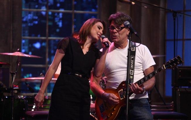 Rachel Sheherazade e Roger Moreira, ambos do SBT (Foto: Reprodução)